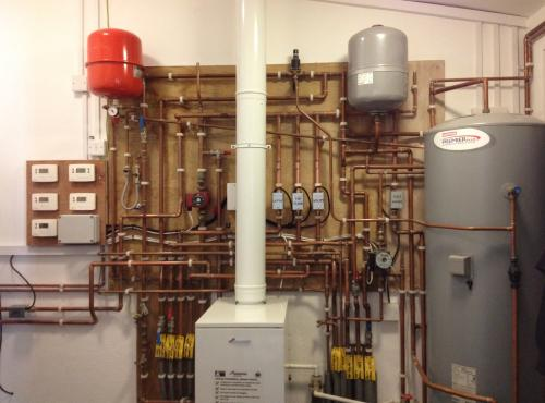 This is the heating and hot water system in a luxury country mansion.